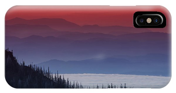 Hurricane Ridge Sunset IPhone Case