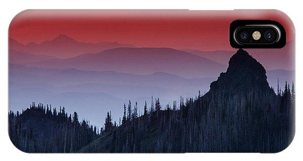 Olympic National Park iPhone Case - Hurricane Ridge Sunset Vista by Mark Kiver