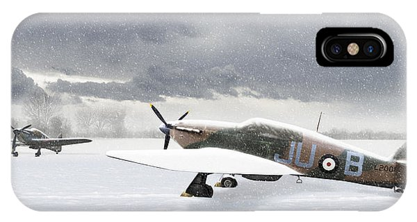 Hurricanes In The Snow IPhone Case