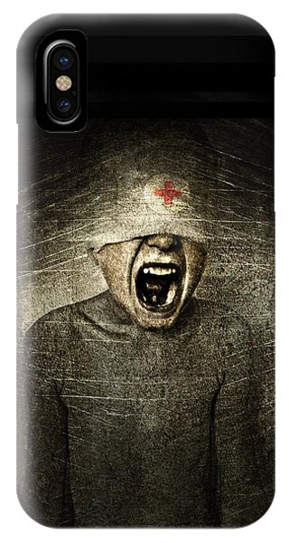 Anguish iPhone Case - Hurt by Johan Lilja