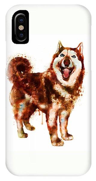 Husky Dog Watercolor IPhone Case