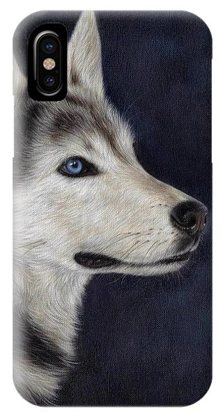 Husky Portrait Painting IPhone Case
