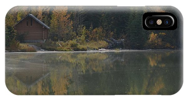Hut By The Lake IPhone Case