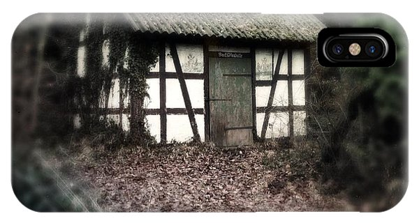 Germany iPhone Case - Hut In The Forest - Nature Park Schoenbuch Germany by Matthias Hauser