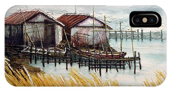 Huts By The Shore IPhone Case