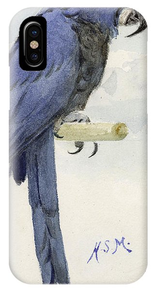 Audubon iPhone X Case - Hyacinth Macaw by Henry Stacey Marks
