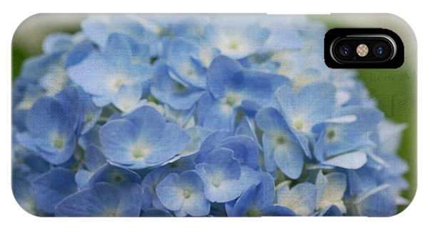 Hydrangea Solitude IPhone Case
