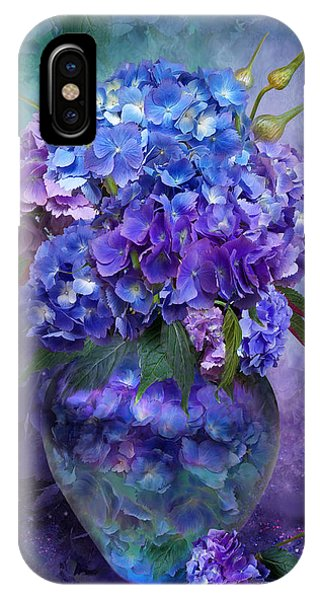 Hydrangeas In Hydrangea Vase IPhone Case