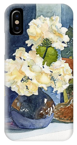 Hydrangeas On Mantle IPhone Case