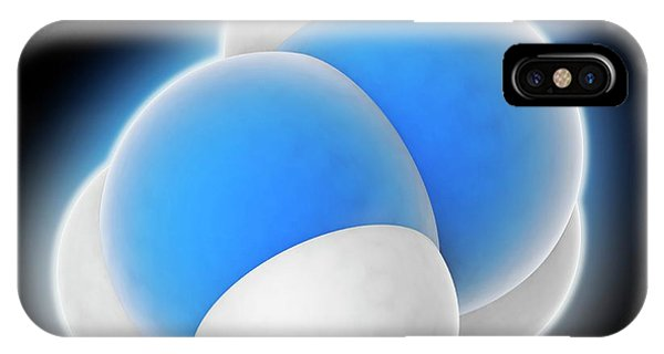 Flammable iPhone Case - Hydrazine Molecule by Laguna Design