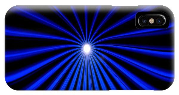 Hyperspace Blue Landscape IPhone Case