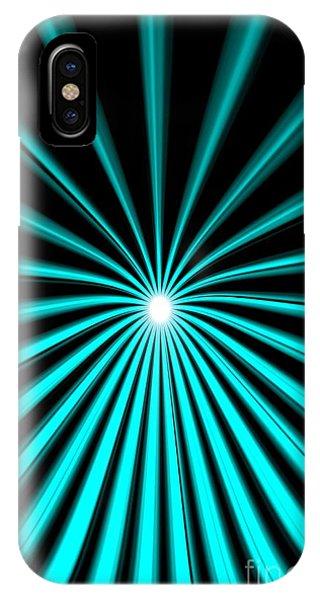 Hyperspace Cyan Portrait IPhone Case