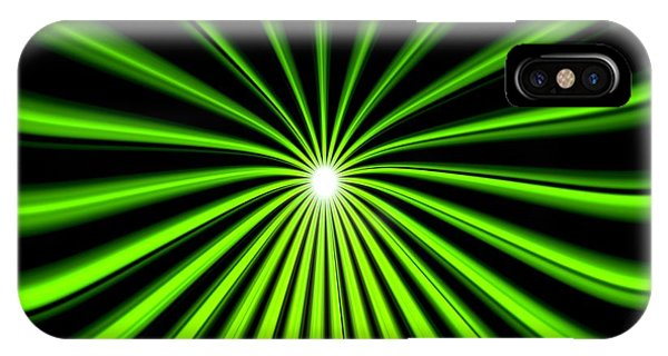 Hyperspace Electric Green Square IPhone Case