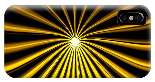 Hyperspace Gold Landscape IPhone Case