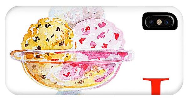 Cream iPhone Case - I Art Alphabet For Kids Room by Irina Sztukowski
