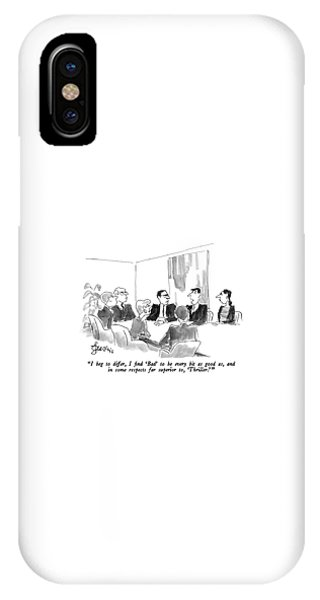I Beg To Differ IPhone Case