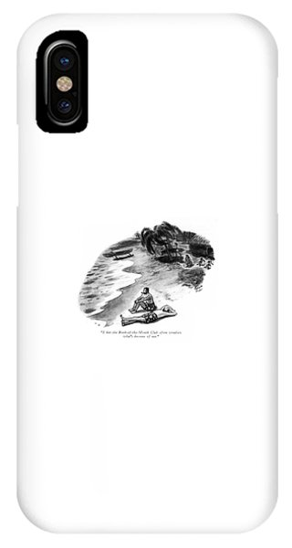 Shipwreck iPhone Case - I Bet The Book-of-the-month Club Often Wonders by Richard Decker