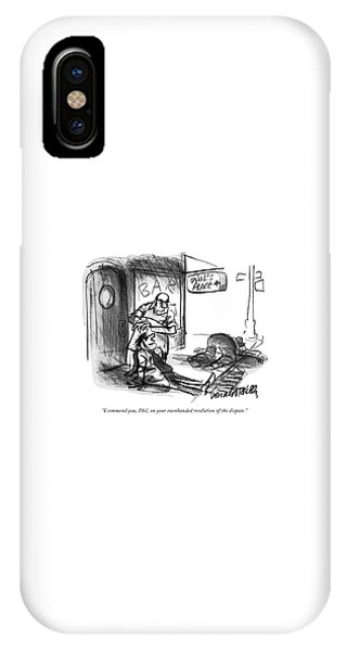 Pub iPhone Case - I Commend by Donald Reilly