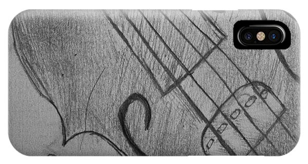 Music iPhone Case - I Drew Some Of A Violin by Dania Swails