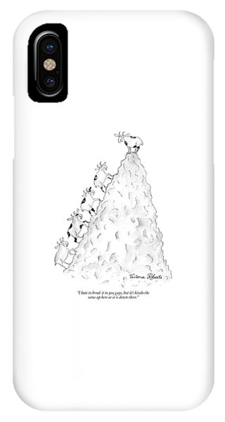 Goat iPhone Case - I Hate To Break It To You Guys by Victoria Roberts