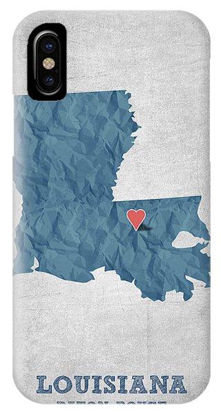 Baton Rouge iPhone Case - I Love Baton Rouge Louisiana - Blue by Aged Pixel