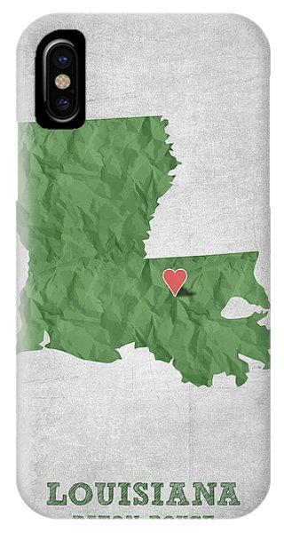 Baton Rouge iPhone Case - I Love Baton Rouge Louisiana - Green by Aged Pixel