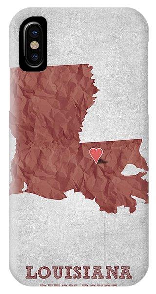 Baton Rouge iPhone Case - I Love Baton Rouge Louisiana - Red by Aged Pixel