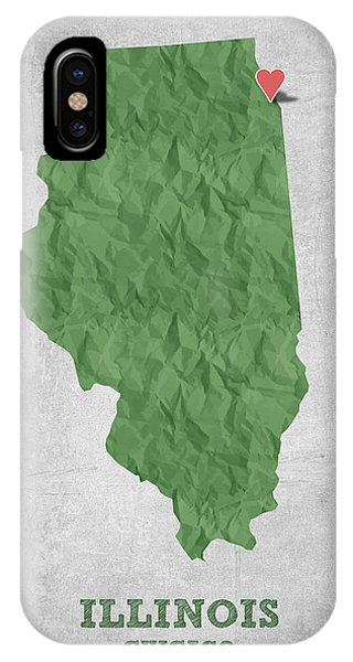 Chicago Art iPhone Case - I Love Chicago Illinois - Green by Aged Pixel