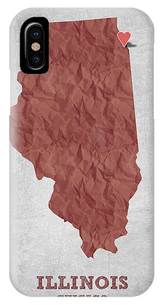 Chicago Art iPhone Case - I Love Chicago Illinois - Red by Aged Pixel