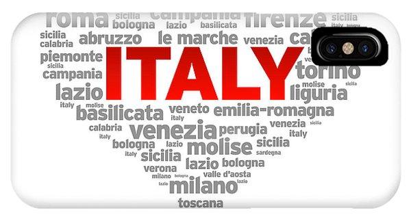 I Love Italy IPhone Case