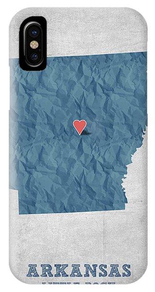 I Love Little Rock Arkansas - Blue IPhone Case