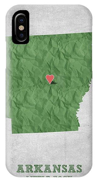 I Love Little Rock Arkansas - Green IPhone Case