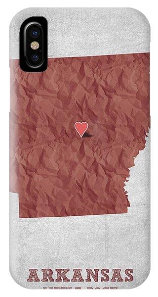 I Love Little Rock Arkansas - Red IPhone Case