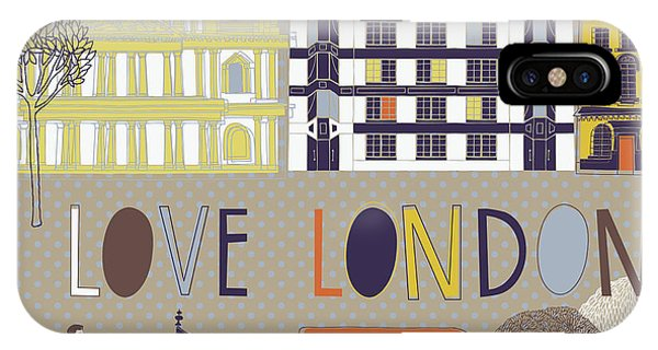 Attraction iPhone Case - I Love London Print Design by Lavandaart