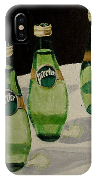 I Love Perrier - Conceptual Still Life Painting - Ai P. Nilson IPhone Case