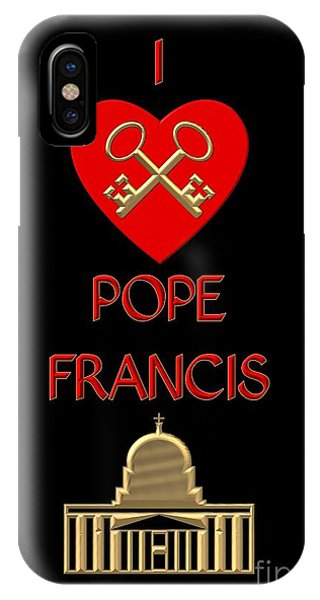 I Love Pope Francis IPhone Case