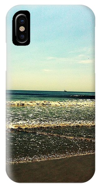 IPhone Case featuring the photograph I Love The Beach by Marian Palucci-Lonzetta