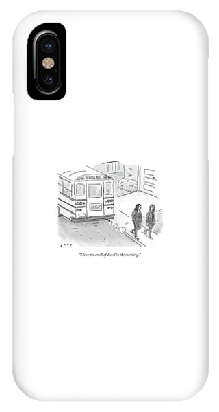 I Love The Smell Of Diesel In The Morning IPhone Case