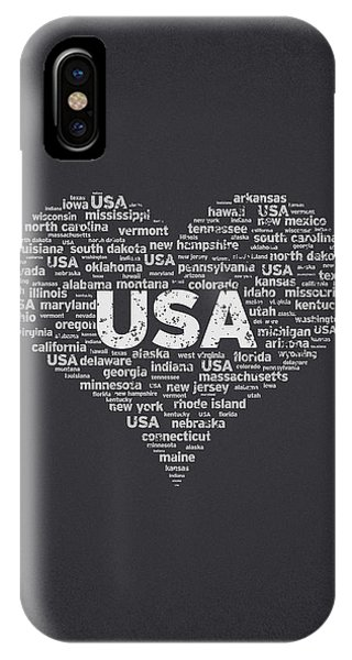 I Love Usa IPhone Case