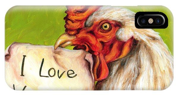I Love Vegans IPhone Case