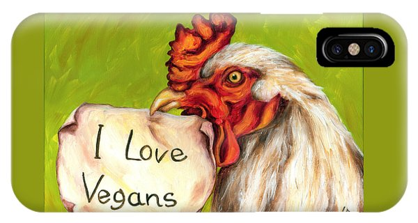 I Love Vegans IPhone Case