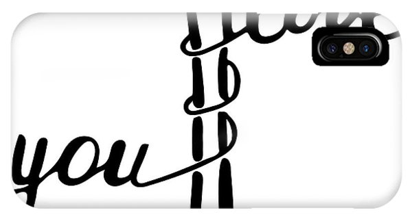 Ink iPhone Case - I Love You . Inspirational And by Marina Kutukova