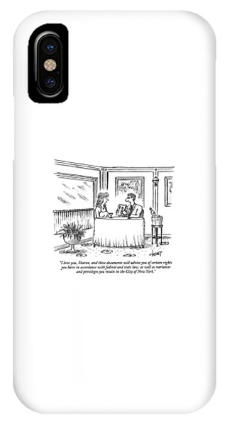 I Love You, Sharon, And These Documents IPhone Case
