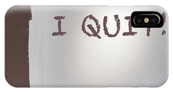 Left iPhone Case - I Quit by Staab Franz