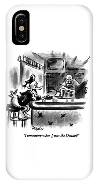 Duck iPhone Case - I Remember When I Was The Donald! by Lee Lorenz