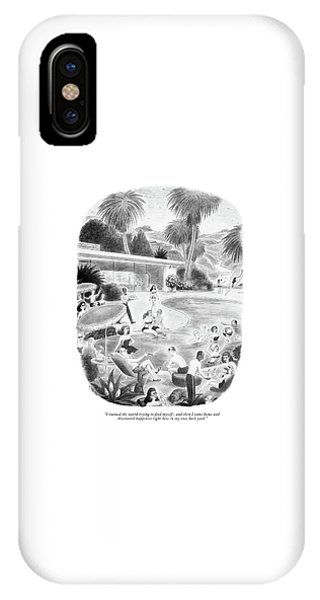 I Roamed The World Trying To Find Myself IPhone Case