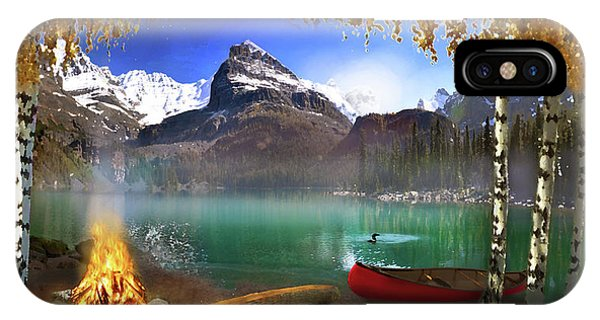 Loon iPhone Case - I Stillness I Heal by David M ( Maclean )