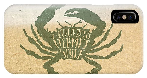 I Thrive Best Hermit Style Typography Crab Beach Sea IPhone Case