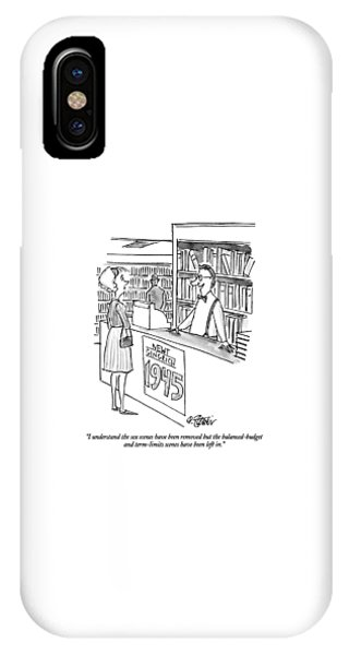 Newts iPhone Case - I Understand The Sex Scenes Have Been Removed But by Peter Steiner