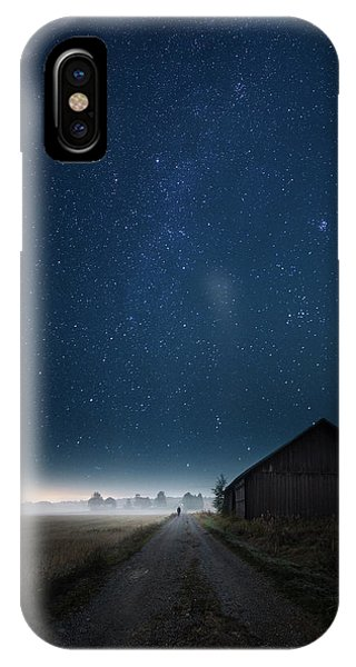 Night iPhone Case - I Walk Alone by Mika Suutari